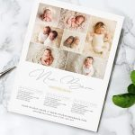 New Born Price Guide Photography Flyer Template